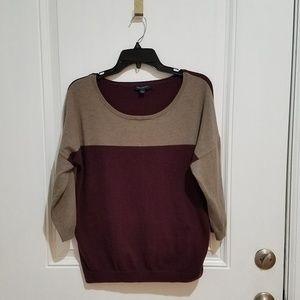 Banana Republic Color Block Crewneck Sweater